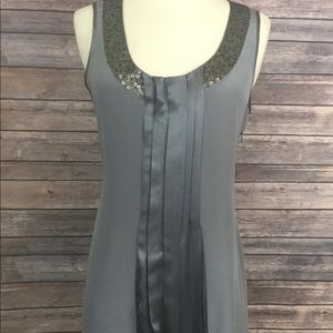 Ted Baker Pleated Dress With Sequin Neck